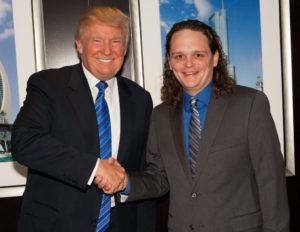 Donald Trump and Frank Acomb